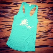 KDandPR Sailfish Flag TankTop_teal