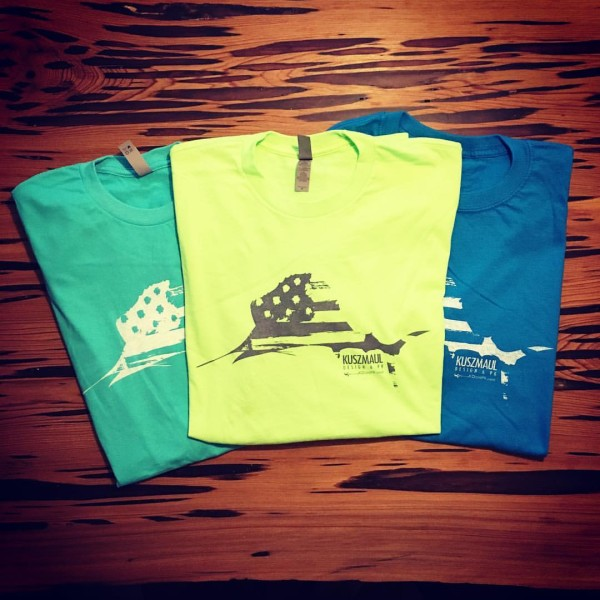 KDandPR Sailfish Flag Tshirt neon