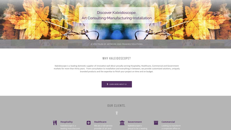 Web Design: Kaleidoscope Framing