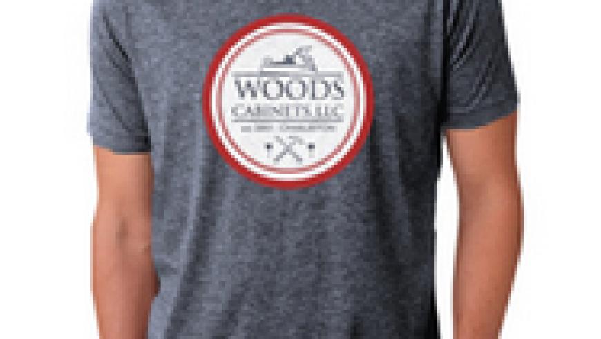 Branding, Tshirt: Woods Cabinets