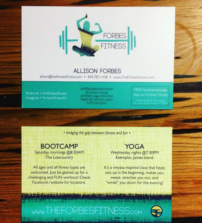 Branding Forbes Fitness Business Cards