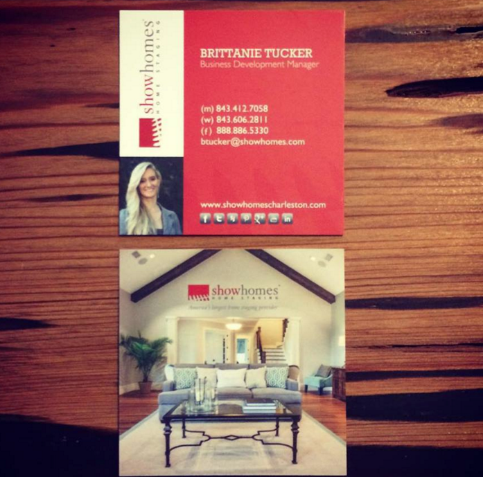 Branding: Show Homes Business Cards