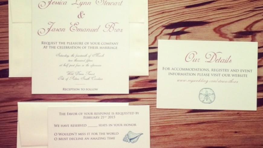 Wedding Invitations & Thank You Cards: Broz