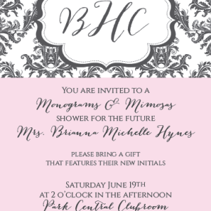 Bridal Shower Invitations: Monogram