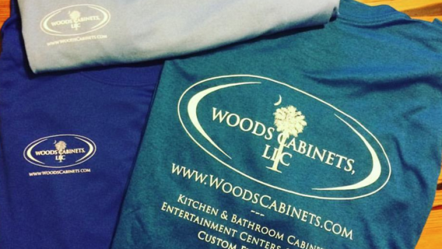 Branding, T-Shirts: Woods Cabinets