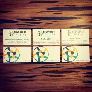 Branding, Graphics: New Start to Live Business Cards